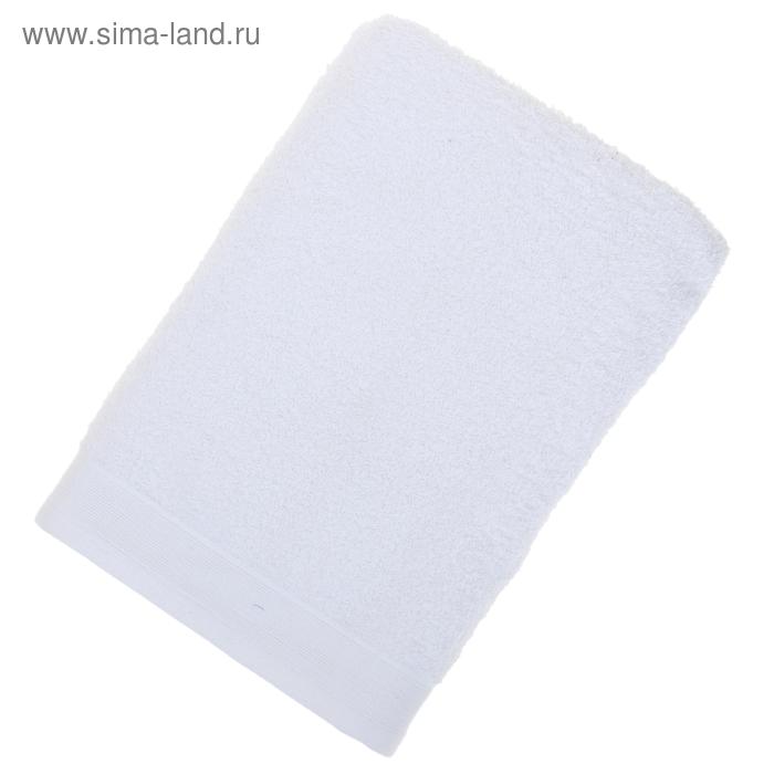 Полотенце махровое гладкокрашеное 70х140см, белый 500гр/м, хл100%