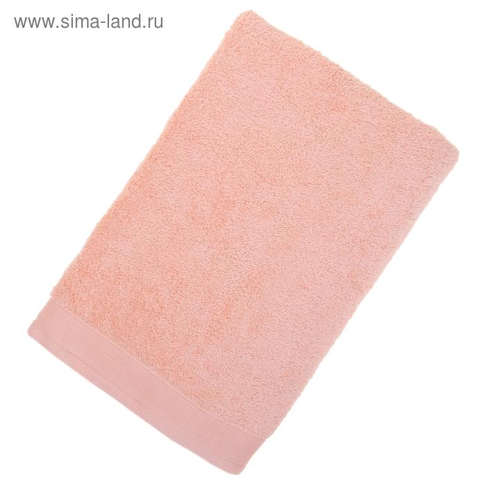 Полотенце махровое гладкокрашеное, размер 70х140 см, 500гр/м, цвет коралл