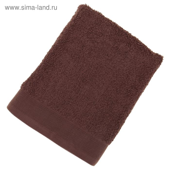Полотенце махровое гладкокрашеное, размер 50х100 см, 500 г/м², цвет какао