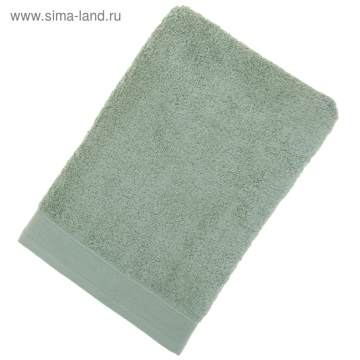 Полотенце махровое гладкокрашеное, размер 100х150 см, 500 г/м², цвет фисташка