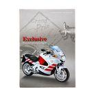 """Записная книжка твердая обложка А7, 48 листов """"Мотоцикл на сером"""", глянцевая ламинация"""