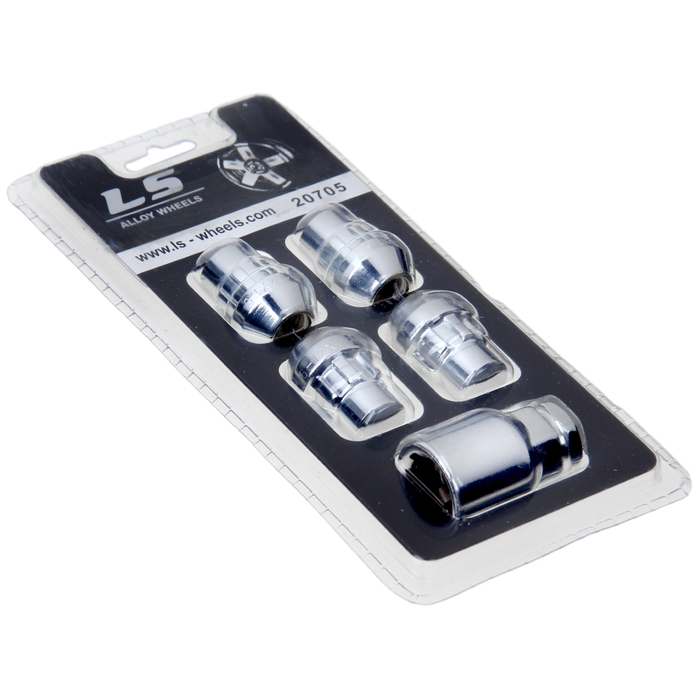 Секретки на колеса автомобиля, гайка 12x1.5, 4 шт + ключ