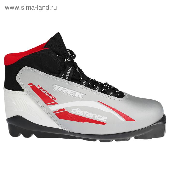 Ботинки лыжные TREK Distance SNS ИК (серебряный, лого красный) (р. 40)