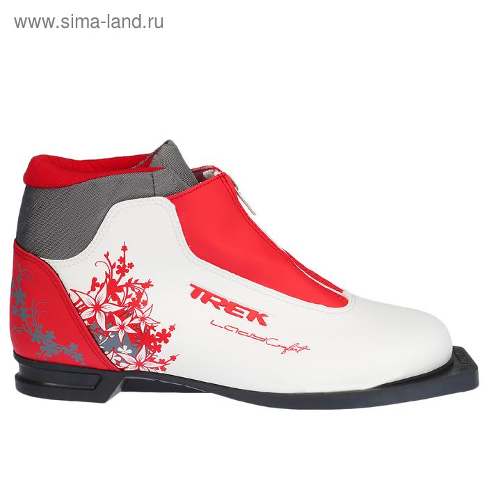 Ботинки лыжные TREK Lady Comfort  NN75 ИК (белый, лого красный) (р.41)