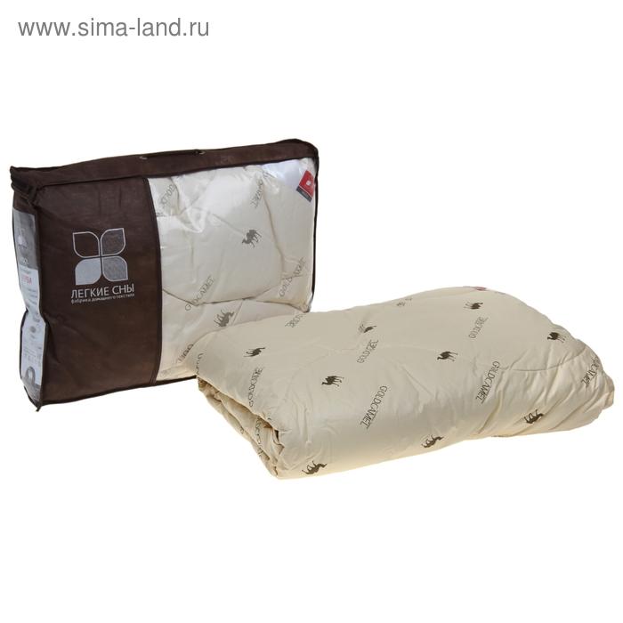 Одеяло стеганое Верби 110x140 см теплое 300 гр/м, верблюжья шерсть, тик беж