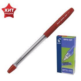 Ручка шариковая Pilot BPS-GP, резиновый упор, 0.7мм, масляная основа, стержень красный