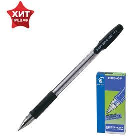 Ручка шариковая Pilot BPS-GP, резиновый упор, 0.7мм, масляная основа, стержень черный
