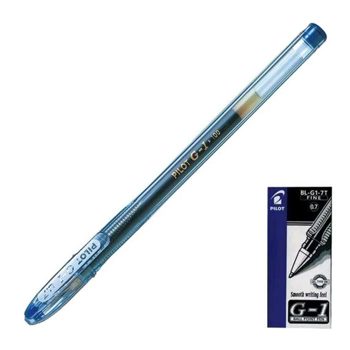 Ручка гелевая Pilot G1 0.5 мм стержень синий
