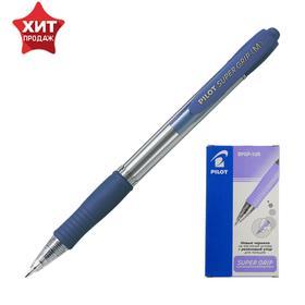 Ручка шариковая автоматическая Pilot Super Grip, узел 1.0мм, чернила синие на масляной основе, резиновый упор