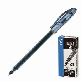 Ручка гелевая Pilot Super Gel 0.5 мм стержень черный, одноразовая