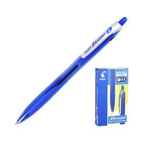 Ручка шариковая автоматическая Pilot Rex Grip, узел 0.7мм, чернила синие на масляной основе, резиновый упор