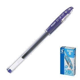 Ручка гелевая с грипом PILOT, extra fine, синяя, корпус прозрачный, узел 0,38 мм, линия письма 0,2 мм, BLN-G3-38