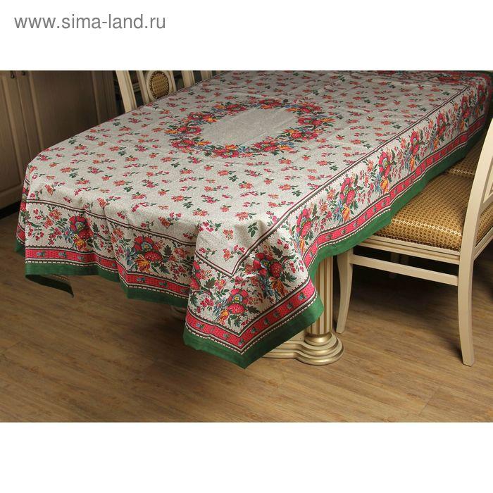 """Скатерть """"Шишки"""", размер 150х200 см, 220 г/м2, цвет малиновый"""