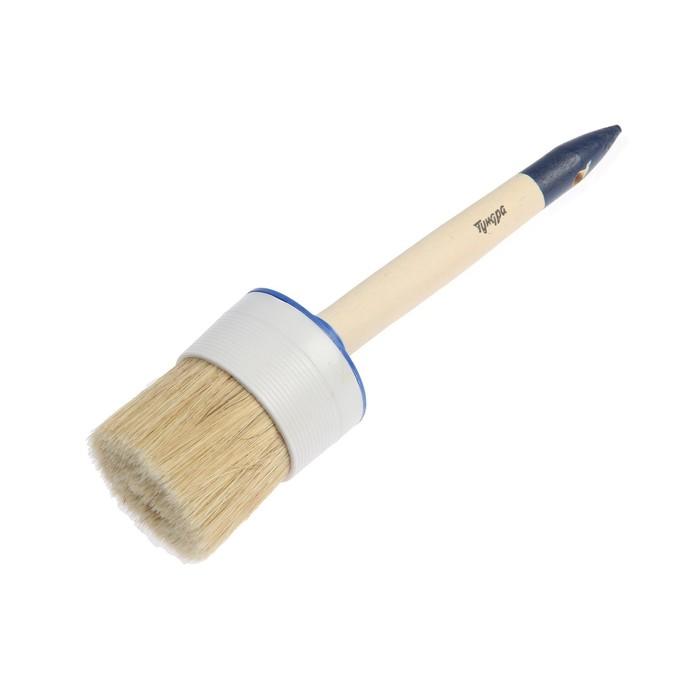 Кисть круглая TUNDRA basic, натуральная щетина, деревянная ручка №20 (65 мм)