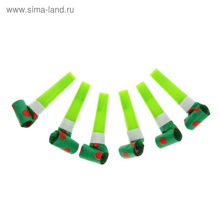 """Карнавальный язычок """"Горох"""" (набор 6 шт), цвет зеленый"""