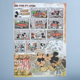 Декупажная карта 'Счастье быть рядом', Микки Маус, 21 х 29,7 см Ош