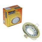 Светильник встраиваемый Ecola, H4, GX53, без рефлектора, цвет золото