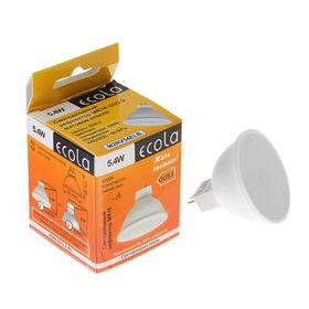 Лампа светодиодная Ecola, GU5.3, 5.4 Вт, 4200 K, матовое стекло
