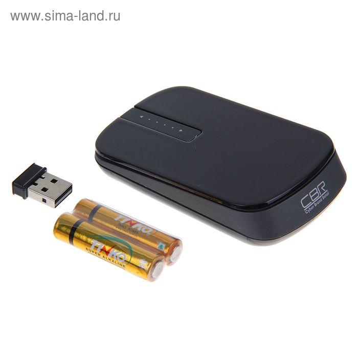 Мышь CBR CM-750, оптическая, беспроводная, 1000/1600dpi, 2.4 ГГц, touch scroll, глянец, мини
