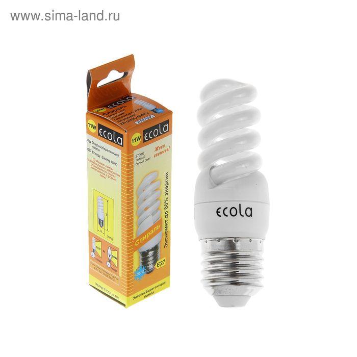Лампа энергосберегающая Ecola, Е27, 11 Вт, 2700 К