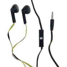 Наушники Human Friends Acid, вкладыши, микрофон, 113 дБ, 32 Ом, 3.5 мм, 1.2 м, черно-желтые