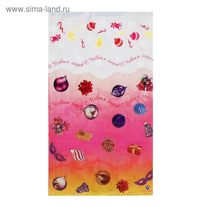 """Пакет подарочный """"Маскарад"""" 30 х 50 см, цветной металлизированный рисунок"""