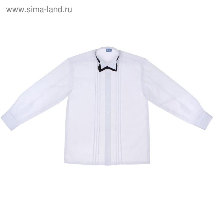 Сорочка нарядная с бантиком, рост 110-116 см (28), цвет белый