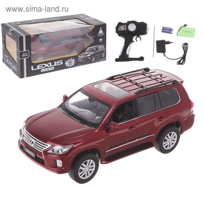 Машина радиоуправляемая LEXUS LX 570, с аккумулятором, масштаб 1:16, световые эффекты, цвета МИКС