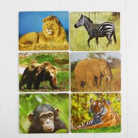 Разрезные картинки «Дикие животные»
