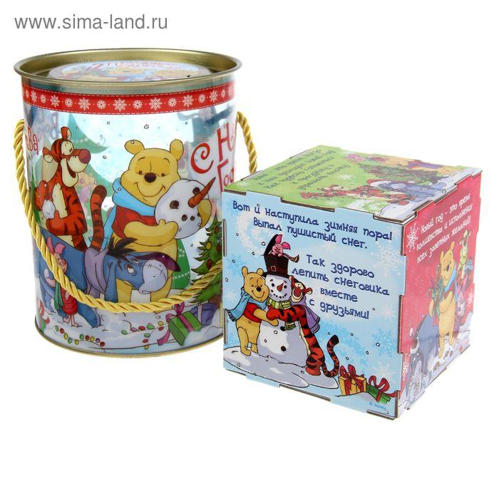 "Коробка-тубус подарочная ""Волшебного праздника"", Медвежонок Винни, + бонус"