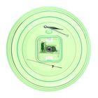 Часы-конструктор под нанесение, круглые, зелёные