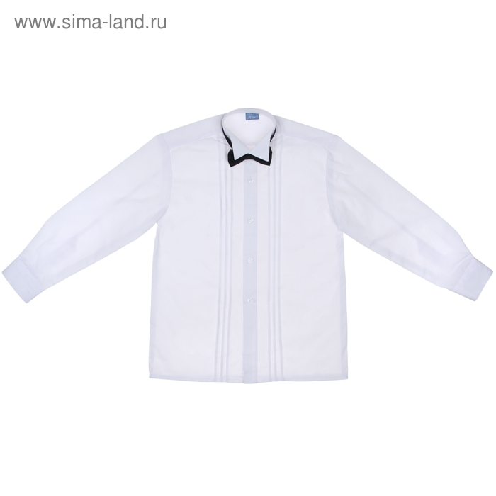 Сорочка нарядная с бантиком, рост 122-128 см (31), цвет белый