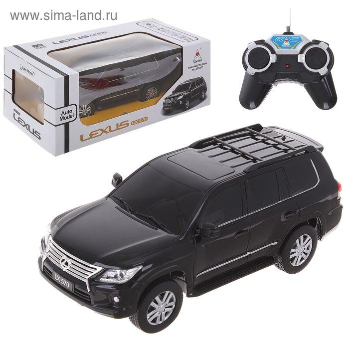 Машина радиоуправляемая LEXUS LX 570, работает от батареек, масштаб 1:24, световые эффекты, цвета МИКС