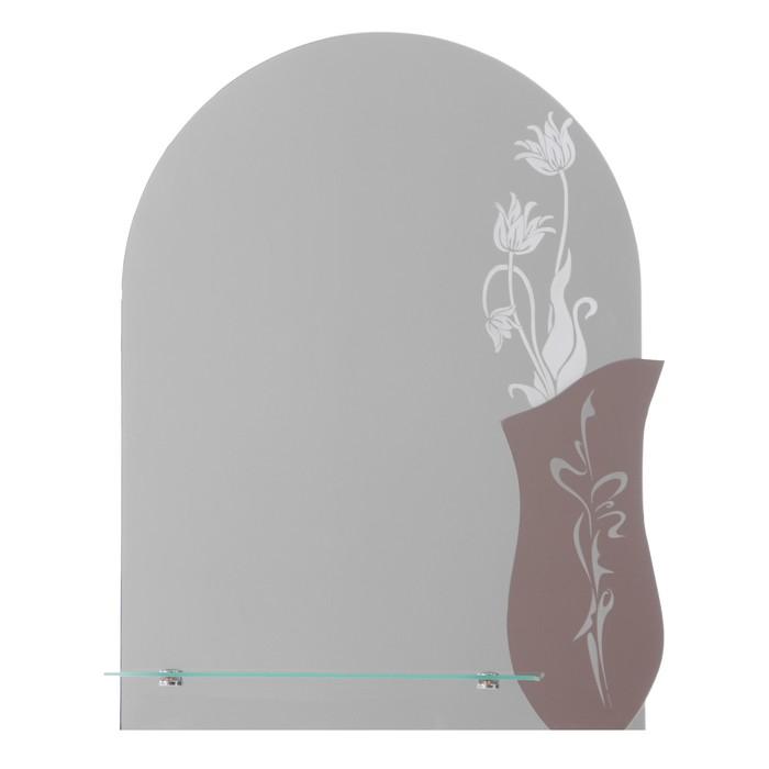Зеркало «Нимфа», настенное, с полочкой, 50х67 см