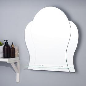 Зеркало «Манго», настенное, с полочкой, 53,5х57 см
