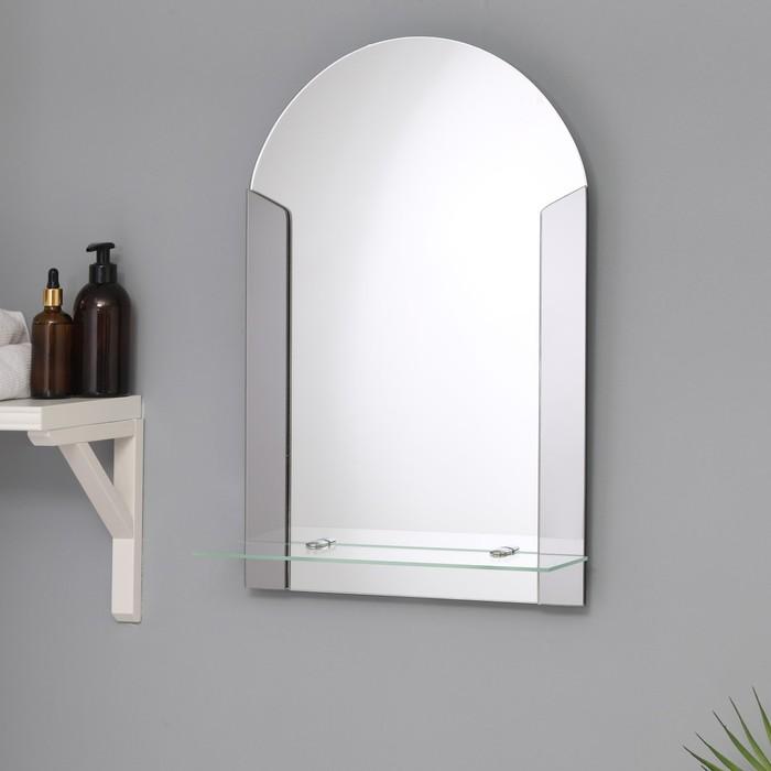 Зеркало «Лайм», настенное, с полочкой, 39×58 см