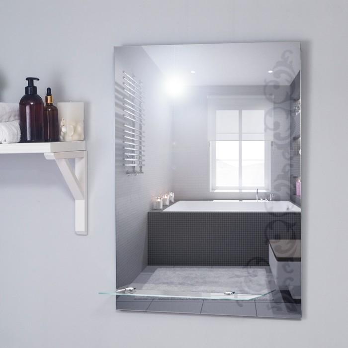 Зеркало «Шоколад», настенное, с полочкой, 50х68 см