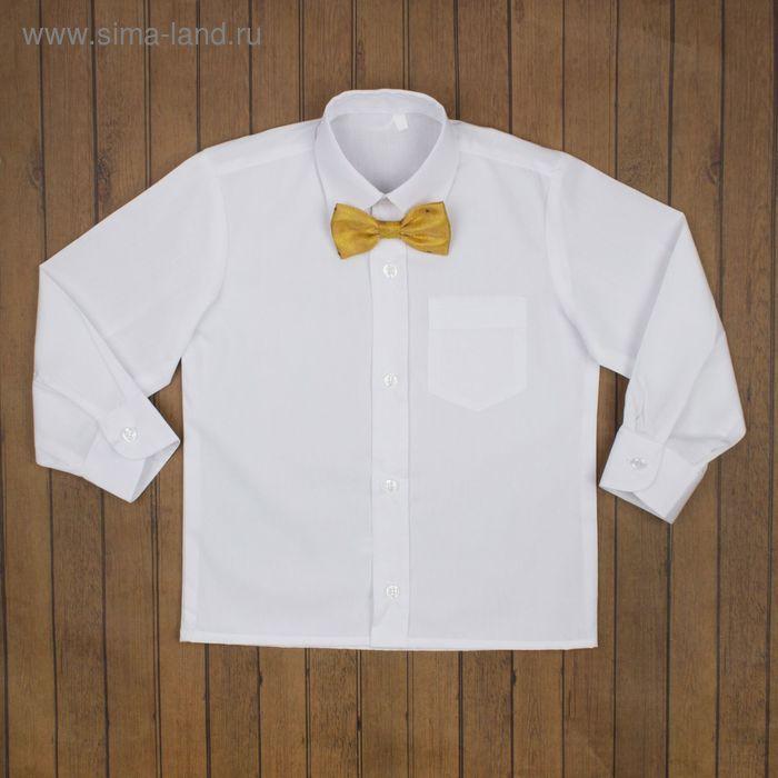 Сорочка нарядная для мальчика, рост 122-128 см (30), цвет белый