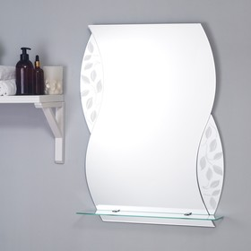Зеркало «Агата», настенное, с полочкой, 53×68 cм