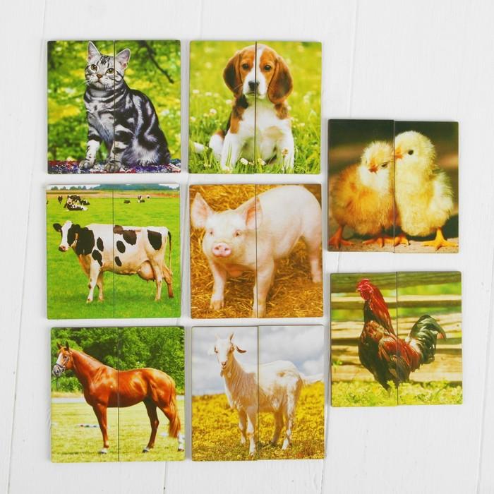 Картинки-половинки «Домашние животные» - фото 105589303