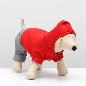 Winter jumpsuit with hood, lining 100% cotton, size M(DS 25cm, Osh 29 cm, or 36 cm), mix