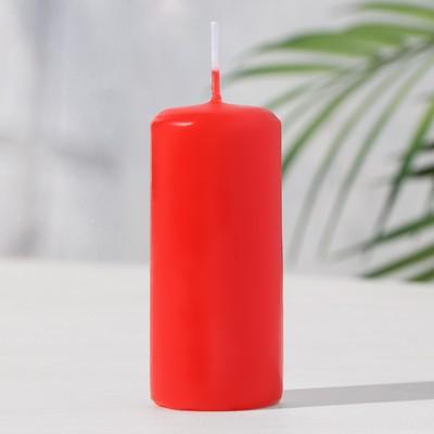 Свеча пеньковая ароматическая «Клубника», 4 х 9 см