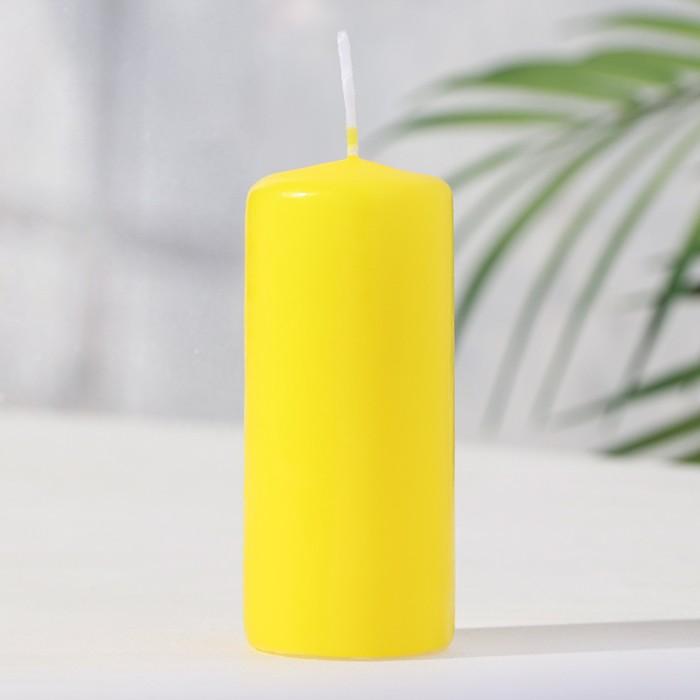 Свеча классическая 4х9 см, жёлтая