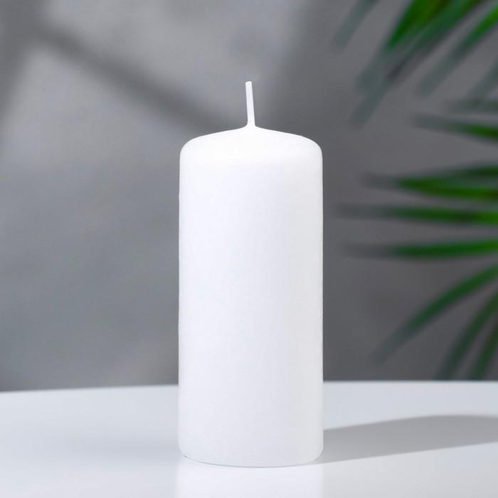 Свеча классическая 4х9 см, белая - фото 1706452
