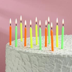 """Свечи для торта """"Красочные"""", 9 см, 12 шт"""