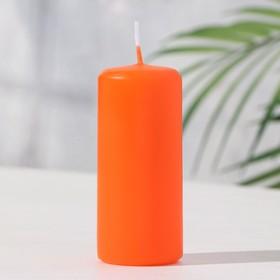 "Aromatic hemp candle ""Orange"", 4 x 9 cm"