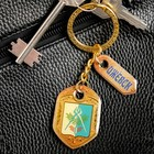 """Keychain is double-sided with epoxy """"Izhevsk. Coat of arms"""""""