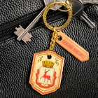 "Double-sided keychain with resin fill ""Nizhny Novgorod. Coat of arms"""