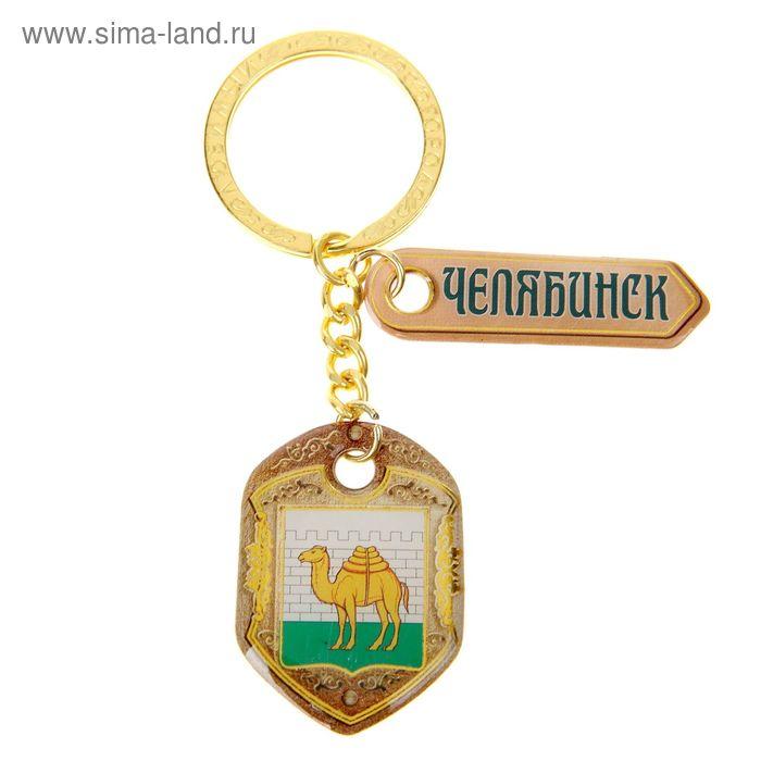 "Брелок двусторонний со смоляной заливкой ""Челябинск. Герб"""