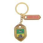 "Bilateral keychain with resin fill ""Novokuznetsk. Coat of arms"""